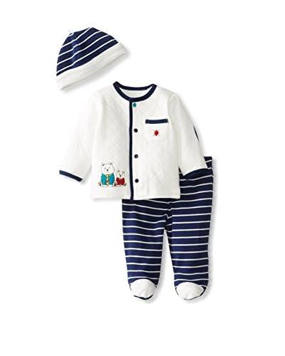 Little Me Baby Preppy 3-Piece Pant Set