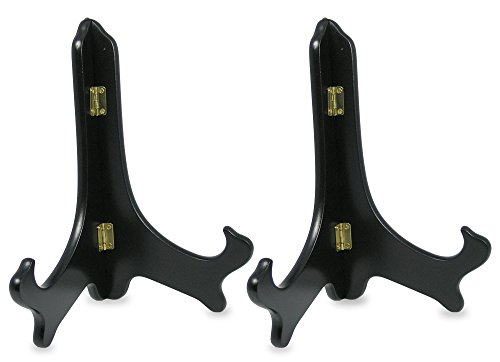 Black Wooden Easels Premium Quality Plate Holder Folding Display Stand - 9 Inch - Set of 2 Pieces (2 Display Stand compare prices)