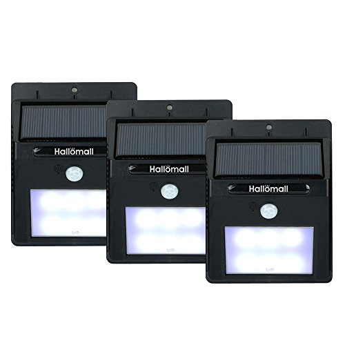 Bright Outdoor Solar Lights Motion Sensor Detector - No Battery Required - Weatherproof Wireless Exterior Security Outdoor Lighting For Patio Deck Yard Garden Home Driveway Stairs Outside Wall, Day / Night Auto On / Off - (No Dim Light Mode) - 3 Pack (Motion Detector Lights Outdoor compare prices)