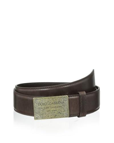 Dolce & Gabbana Men's Oversized Logo Belt