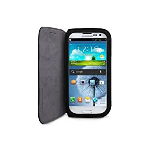 GGMM Flip - S Microfiber Leather Case for Samsung Galaxy S III - Carrying Case - Retail Packaging - Black