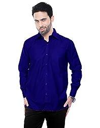 VinaraTrends Nevy Blue Color Poly Cotton Shirt For Men (38)