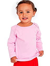 American Apparel Kids Infant Baby Rib Long Sleeve Lap T-Shirt Size 12-18M Pink