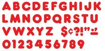 "Trend Enterprises Red 3"" Casual Ready Letters, 125/Pkg (T-79002) - 1"
