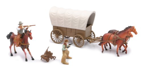 Picture of The Big Country Western Playset: Covered Wagon with Horses and Cowboy Figures (Playsets)