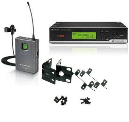 Sennhiser Xsw 12 Wireless System (Frequency: 542-578 Mhz) With Lavalier Microphone And Sennheiser Rack Mount Kit For Speakers And Presenters