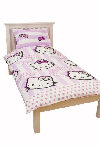 character world parure de lit hello kitty pour lit 1 place. Black Bedroom Furniture Sets. Home Design Ideas