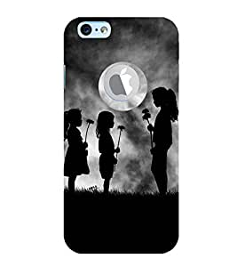Vizagbeats Children with flowers Back Case Cover for Apple iPhone 6 logo cut