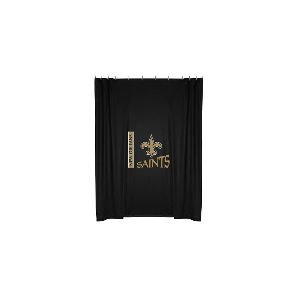 New Orleans Saints 72x72 Shower Curtain Sports Fan Curtains Outdoors