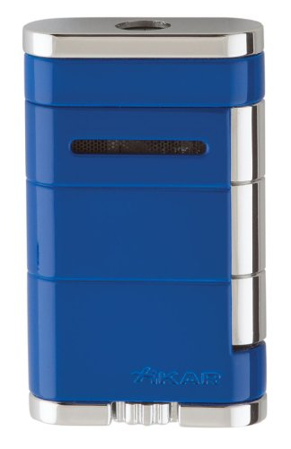 allume blue torch lighter - Xikar vector zone nickel matte single torch lighter