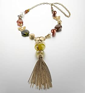 Per Una Assorted Bead Y Tassel Necklace