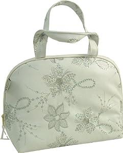 Vagabond Diva White Faux Leather Handle Bag Washbag
