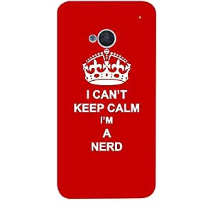 Skin4gadgets I CAN'T KEEP CALM I'm A NERD - Colour - Red Phone Skin for HTC ONE M7