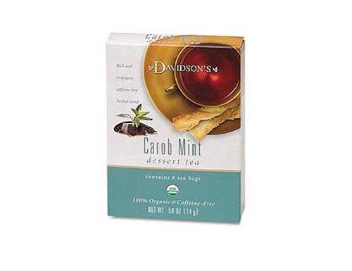 Davidson's Tea Carob Mint, 8-Count Tea Bags (Pack Of 12)