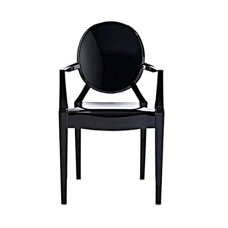 Modern Ghost Armchair in Black