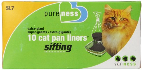 Pureness Ebytra Giant Sifting Cat Pan Liners, 10 Count (Sifting Cat Pan Liners compare prices)