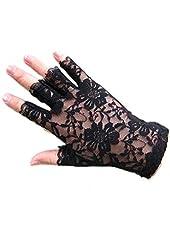 Polytree Women's Lace Fingerless Gloves