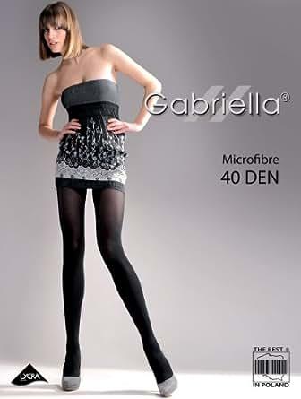Gabriella collants MICROFIBRE, 40 den, Taille L, nero