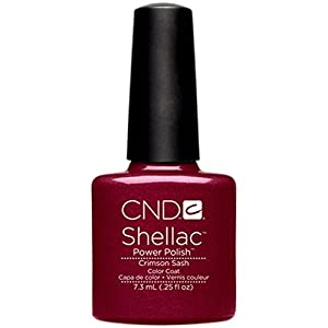 CND Shellac Nail Polish, Crimson Sash, 0.11 lb.