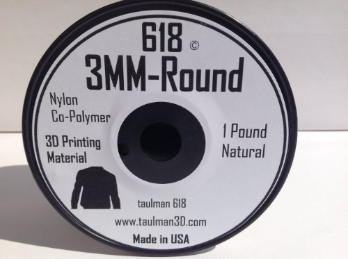 Nylon 3mm White 1lbs Spool of 3D printing filament