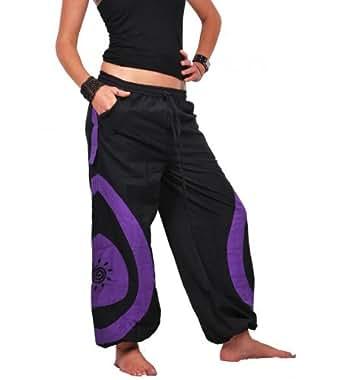 Unisex Psy Baggy Pant Hippie Goa Baumwoll Hose, Größe/Size:S/M