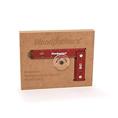 """Woodpeckers Precision Woodworking Square 6"""" x 4"""", Wall-Mountable, Imperial from Woodpeckers"""