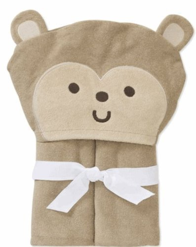 Child of Mine Carter's Baby Hooded Bath Towel - Monkey