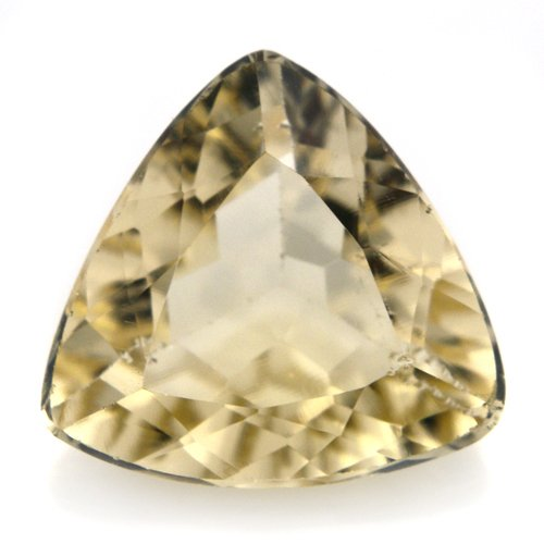 Natural Yellow Beryl Loose Gemstone Trillion Cut 3.4cts 11*10mm VS Grade