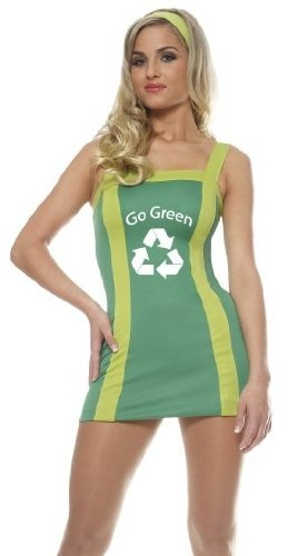 Franco New Green Eco Recycle Cheerleader Outfit Adult Costume