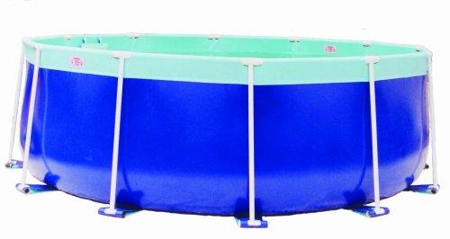 Splash a round pools aqua blue round pool 12 feet by 48 for Plastik pool rund
