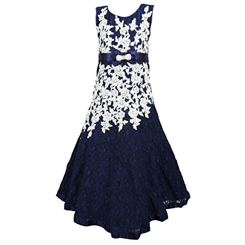 Sweety Mollys 9-10 Year Girls Frock Blue Colour Size 32