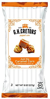 G.H. Cretors Popcorn Just The Caramel Corn, 8-Ounce Bags (Pack of 12) from Cornfields, Inc.