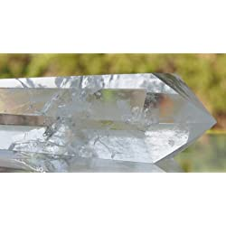 6 Sided Prism Style Clear Natural Quartz Crystal Double Terminated Point Wand Large 4 Inch
