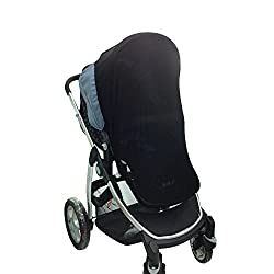 Canopy Stroller Sun Shade Baby Car Seat Sun Shade Cover Crib Net-Fits Most Single Strollers, Prams, Pushchairs, Pack n Plays, Cribs & Bassinets.