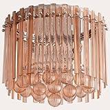 Cyan Lighting 06229 Lois - Two Light Flush Mount, Blush Finish