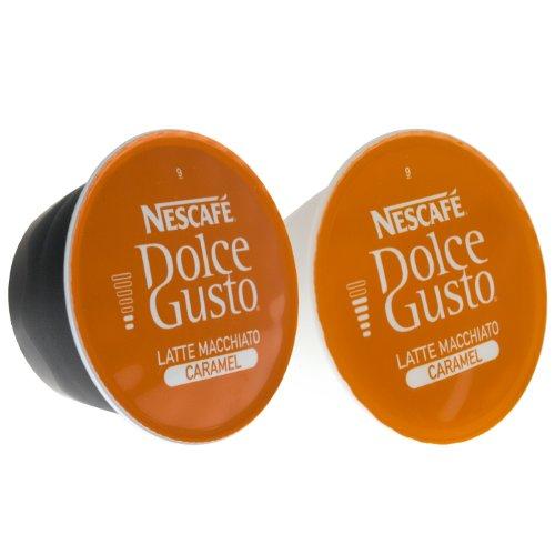 Choose 80 x Nescafé Dolce Gusto Caramel Latte Macchiato, Caramel, Coffee Capsules, Large Package, 80 Capsules (40 Servings) - Nestlé
