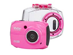 Vivitar DVR787-PNK-KIT-WM Action Digital Video Recorder, Pink Video Camera with 2-Inch LCD