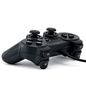 CSL - Gamepad für Playstation 3 / PS3 mit Dual Vibration - Joypad Controller | schwarz