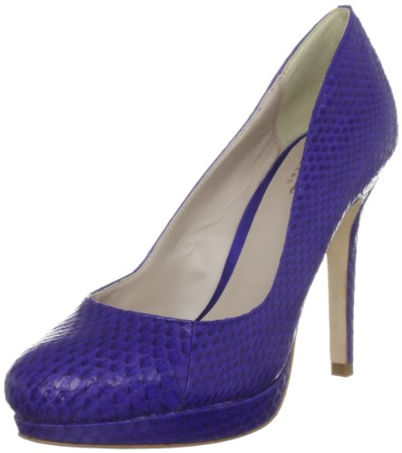 Bourne Women's Agnes Blue Platforms Heels L09059 3 UK