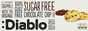 Diablo Sugar Free Chocolate Chip Cookies 150 g (Pack of 4)