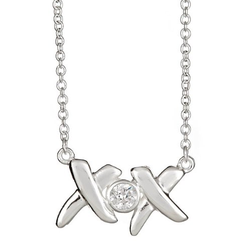 Sterling Silver Love and Kisses Necklace