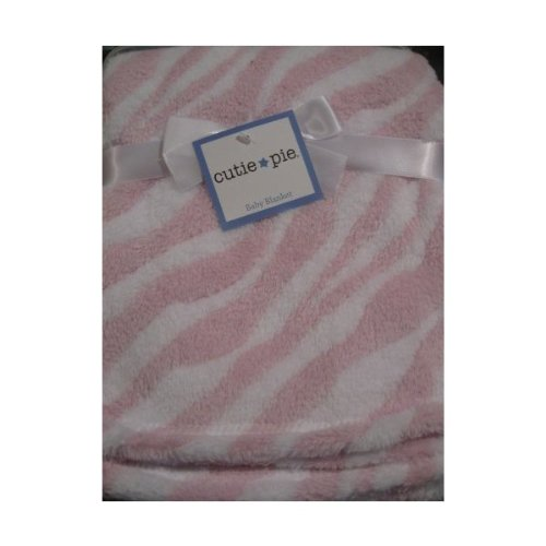 Baby Girl Pink And White Soft Blanket front-782137