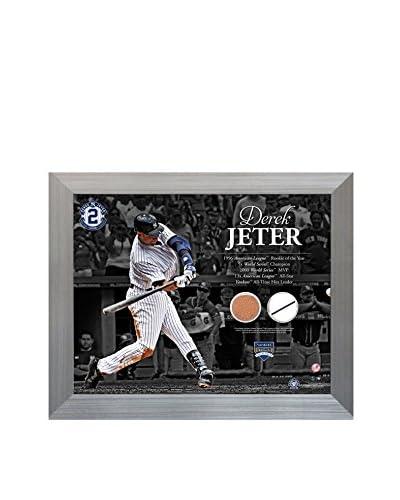 Steiner Sports Memorabilia Derek Jeter Hitting With Timeline Uniform & Dirt Collage, 11 x 14