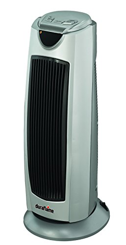 Duraflame DFH-TH-18-TO Portable Electric Oscillating Radiant Ceramic Tower Heater, Gray (Outdoor Heater Tower compare prices)