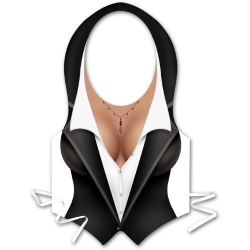 Plastic Female Tux Vest Party Accessory (1 count) - 1
