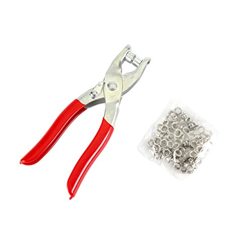 Wisehands Brass Eyelets and Setting Pliers Kit - Shoes Belts Bags Leather Fabric Vinyl - 100pcs Eyelets 4.5mm (Clothing Snap Repair Kit compare prices)