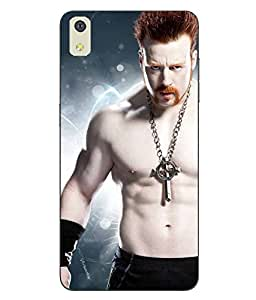 Snazzy Sheamus Printed Blue Soft Back Cover For LYF WATER 8