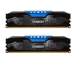 PNY Anarchy 16GB Kit 2x8GB DDR3 2133MHz PC3-17000 CL10 Desktop Memory BLUE - MD16GK2D3213310AB BLUE 2X4GB
