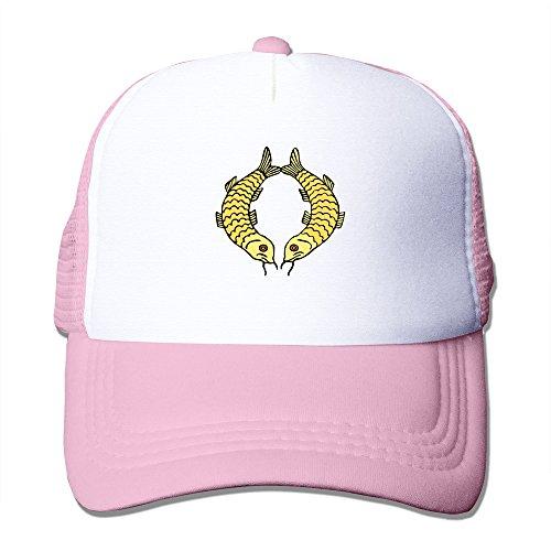 Custom Made Adult Unisex Two Goldfish 100% Nylon Mesh Caps One Size Fits Most Adjustable Baseball Cap