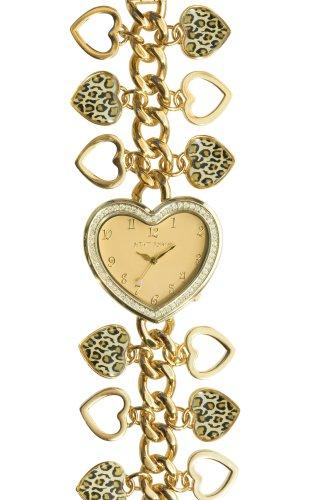 Betsey Johnson Women's BJ4168 Jungle Girl Collection Gold-Tone Bracelet Watch